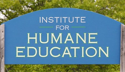 Institute for Humane Education sign