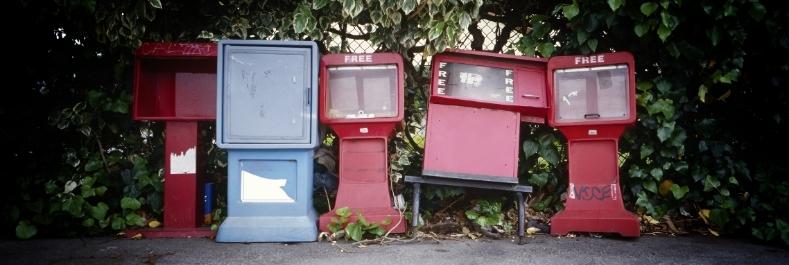 newspaper racks