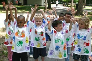 multi-ethnic group of children