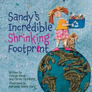 Book cover: Sandy's Incredible Shrinking Footprint