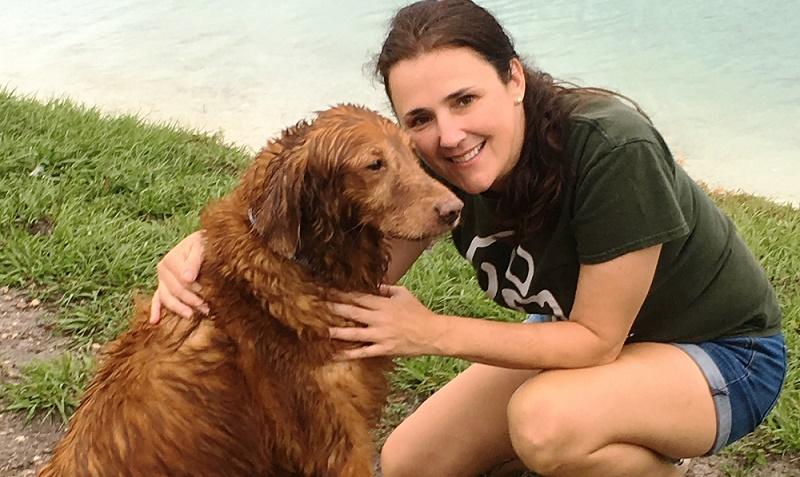 Caroline Crane and her dog Cooper