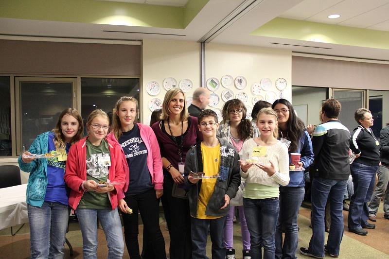 Karen Patterson and humane society junior volunteers