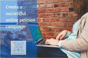 create a successful petition campaign - woman working on laptop